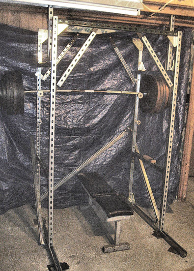 homemade squat rack metal homemade ftempo